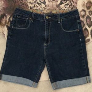 Paige hi rise rolled jean shorts
